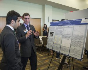 Student Presenting at Research Symposium